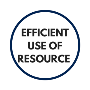 EFFICIENT USE OF RESOURCE